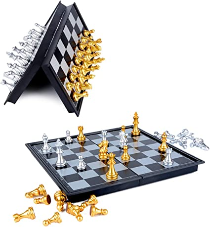 Traditional Board Checker Games for 2 People//Players Folding Magnetic Chess Set