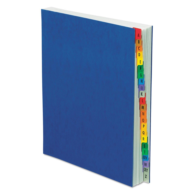 Pendaflex A-Z Expanding Desk File, Letter Size, Blue Pressboard Cover (11015)