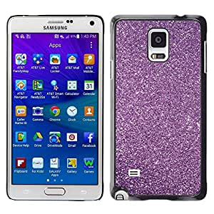 Design for Girls Plastic Cover Case FOR Samsung Galaxy Note 4 Purple Glitter Snow Sky Stars Universe OBBA