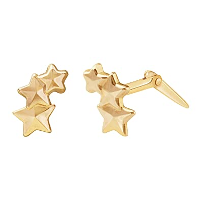 9ct yellow gold 5mm star Andralok stud earrings/Gift box FNOMuAX