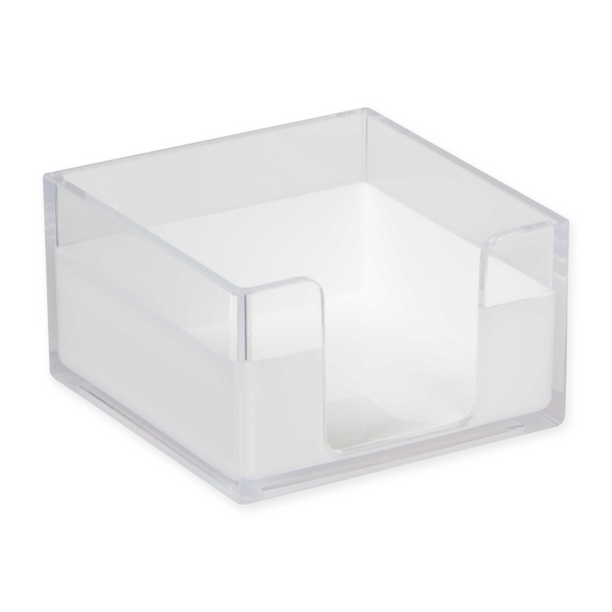 HomeCrate Modern Desk Organizer Memo Tray - Clear/White