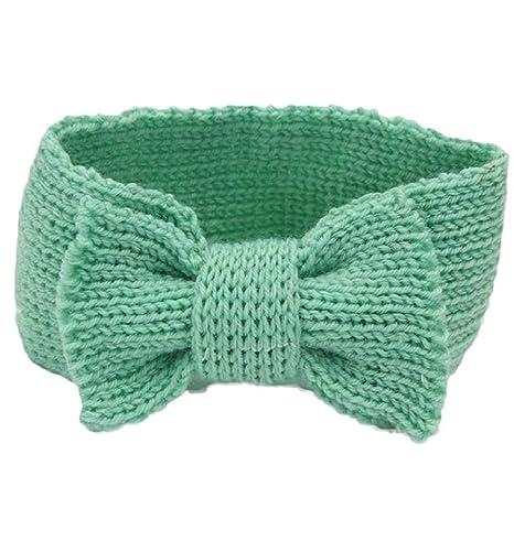 Bowknot Pattern Baby Girl Boy Knit Crochet Headband Winter Warmer