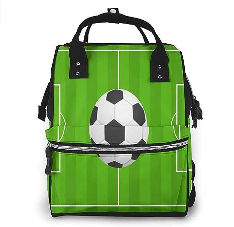 nbvncvbnbv Bolso de pañales Balón de fútbol Fútbol Mochila de ...