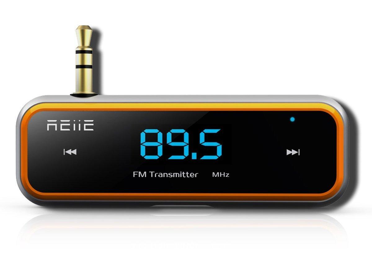 Rii Transmisor FM inalámbrico con auto scan Adaptador de coche incluido Clip