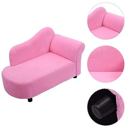 Amazon.com: HONEY JOY Kids Chaise Lounge Sofa Couch Set Children ...