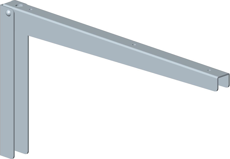 2 St/ück//wei/ßaluminium Element System 18133-00129 Klappkonsole Klapp//Regalkonsole//Regaltr/äger Gr/ö/ßen 5 Farben 38 cm