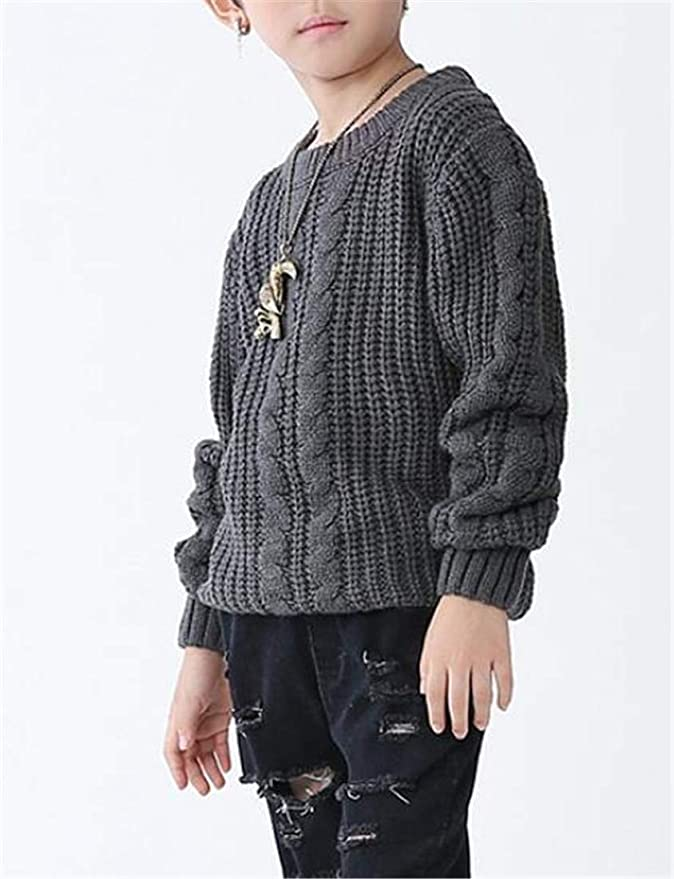 Cromoncent Boys Winter Thicken Jumper Pullover Cute Knitted Sweater