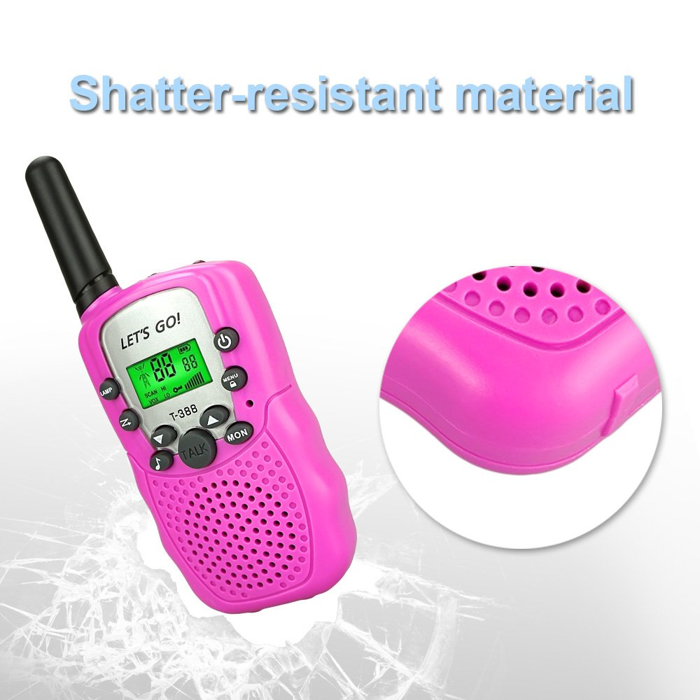 Toys for 3-12 Year Old Girls, DIMY Walkies Talkies for Kids Girls Toys Age 3-12 Year Old Girl Outdoor Toys for Kids Pink DJ06 by DIMY (Image #5)