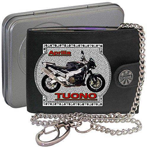 APRILIA TUONO 1000 Klassek Herren Geldbörse Geldbeutel Portemonnaie mit Kette Motorrad Zubehör Bike