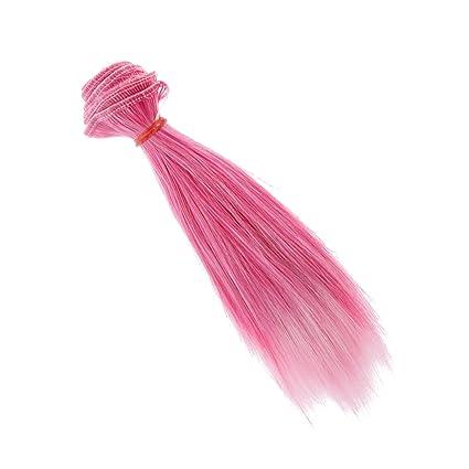 15cm Peluca Pelo Rinka Corte Recto para BJD SD Muñecas Barbie - # 12