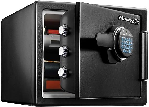 Master Lock Caja Fuerte de Seguridad [Ignifuga y Resistente al Agua] [Combinación Digital] [Large] -LFW082FTC, Negro: Amazon.es: Bricolaje y herramientas