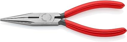 pinza per radiotecnici con becchi mezzotondi con tronchese bonderizzata nera rivestiti in resina sintetica 125 mm KNIPEX 25 01 125 Pinza per meccanica
