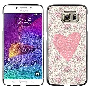 Dragon Case - FOR Samsung Galaxy S6 - Because of you - Caja protectora de pl??stico duro de la cubierta Dise?¡Ào Slim Fit