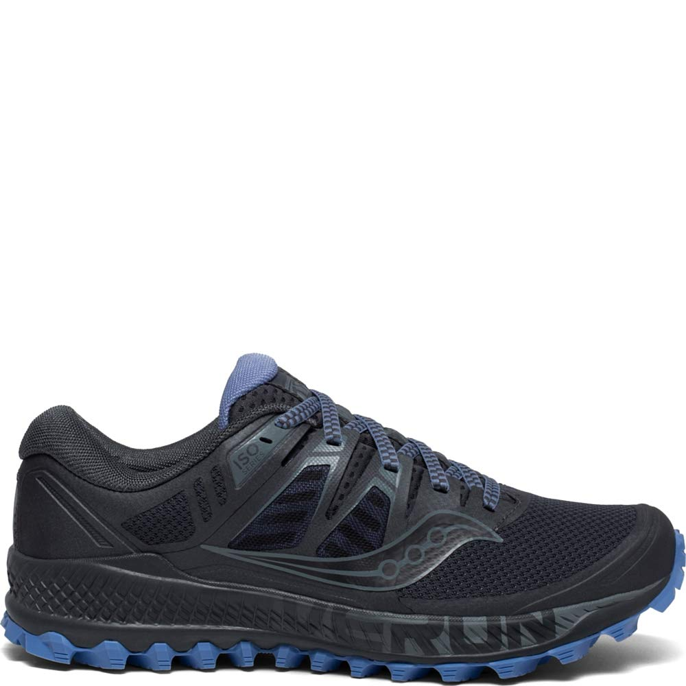 Saucony Women's Peregrine ISO Trail Running Shoe, Gunmetal, 5 W US by Saucony (Image #1)