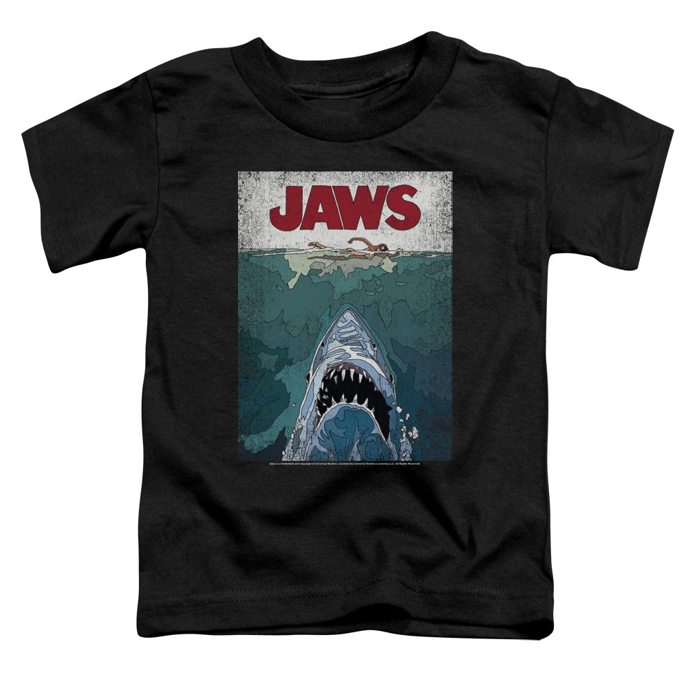 Jaws Classic Shark Thriller Film Line Graphic Poster Little Boys Tod T-Shirt Trevco