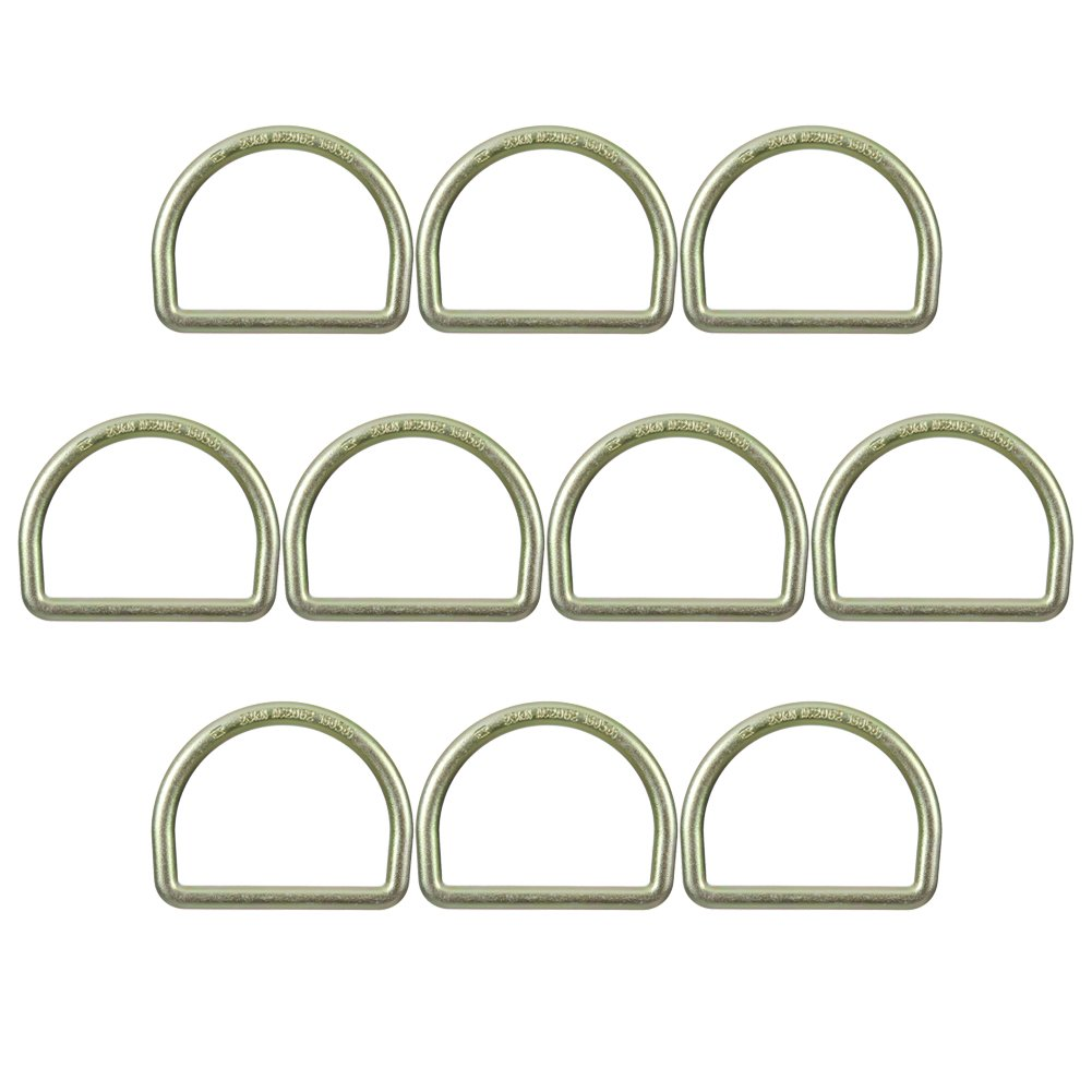 Fusion Climb Moc 4'' Drop Forged Heavy Duty Carbon Steel D-Ring Gold for 3'' Webbing 10-Pack by Fusion