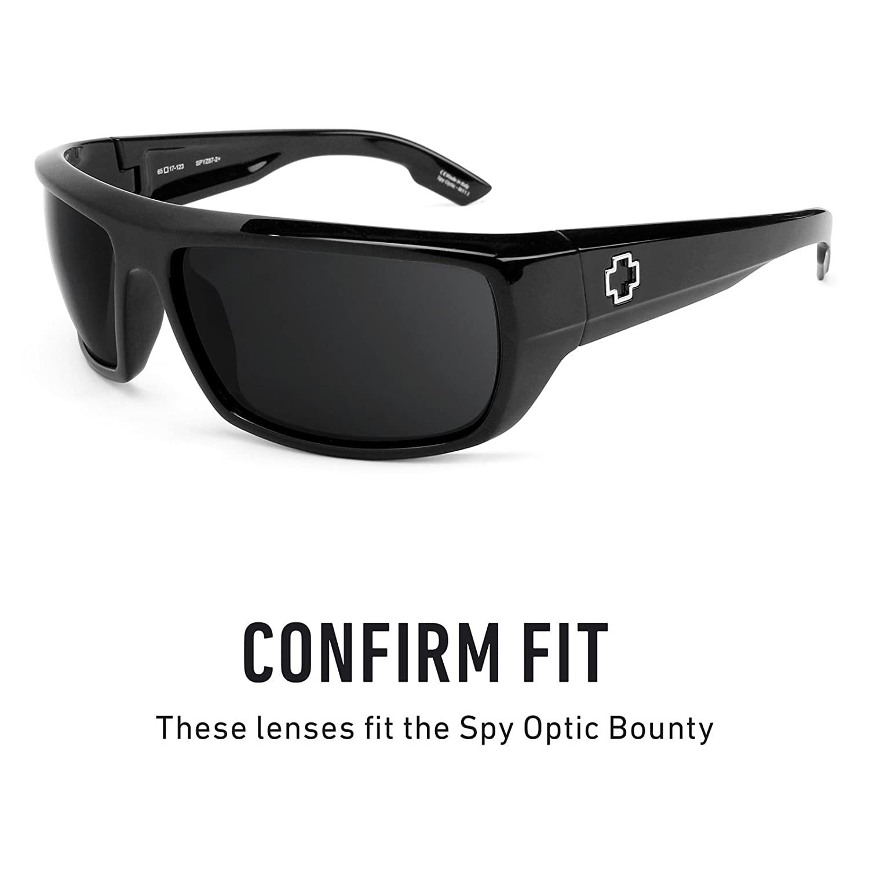 fc318d7eedc Amazon.com  Revant Polarized Replacement Lenses for Spy Optic Bounty Elite  Black Chrome MirrorShield  Sports   Outdoors