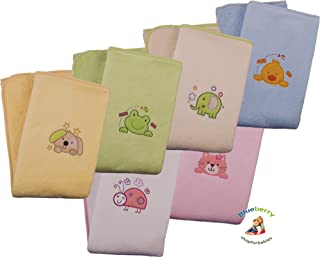 BlueberryShop Fleece Winter Collection Blanket For Baby Toddler 90 cm x 80 cm (35.5' x 31.5') ( 0-5 Yrs ) ( 90 x 80 cm ) White