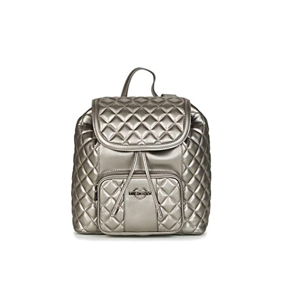 a5f44d349dd Love Moschino Metallic Superquilted Backpack metallic silver  Amazon.co.uk   Clothing