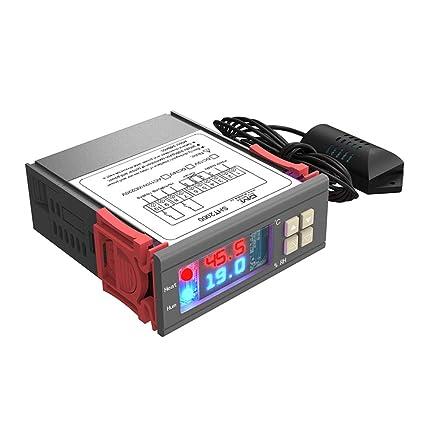 diymore Termostato digital Controlador de humedad de temperatura AC 230V Calefacción de uso general Refrigeración Humidificación