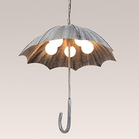 JINGPIN - Creative retro paraguas lámpara de viento industrial para hacer el antiguo café de hierro