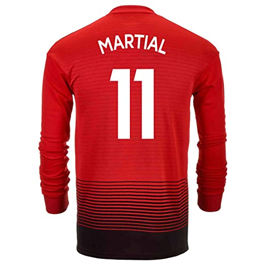 f98a51014e9 adidas Martial #11 Manchester United Home Soccer Men's Long Sleeve Jersey  2018/19 (