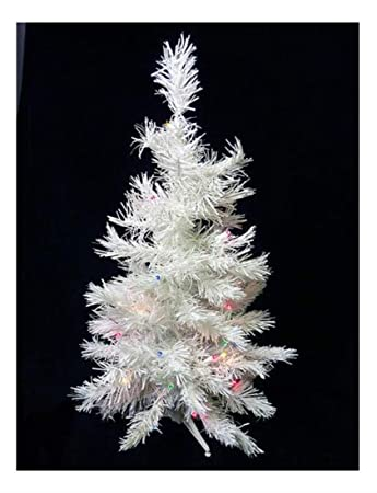 Image Unavailable. Image not available for. Color: 3' Battery Operated Pre- Lit LED White Pine Artificial Christmas Tree ... - Amazon.com: 3' Battery Operated Pre-Lit LED White Pine Artificial