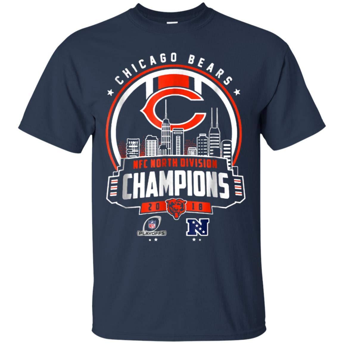 0f43350ea1f Amazon.com: Chicago Bears NFC North Division Champion 2018 Playoffs:  Clothing