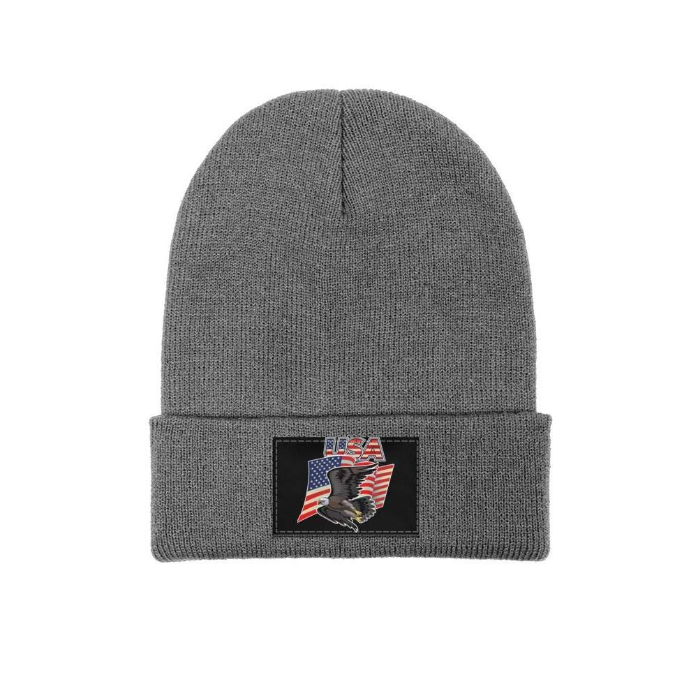FYFYOK Mens Slouchy Beanie Hat Winter Hats American with USA Flags Woolen Cap