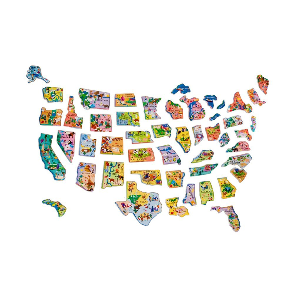 amazoncom ts shure wooden magnetic map of the usa puzzle toys u games with united states map puzzle games
