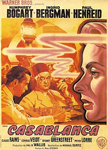 Casablanca Poster Movie French E Humphrey Bogart Ingrid Bergman Paul Henreid Claude Rains Peter