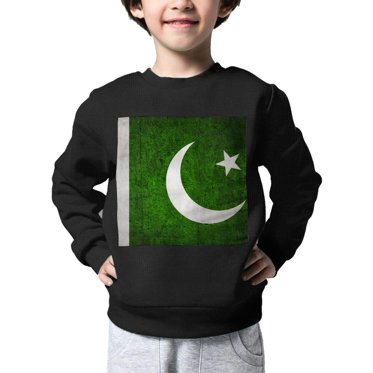 Boys Girls Vintage Pakistan Flag Lovely Sweaters Soft Warm Kids Sweater