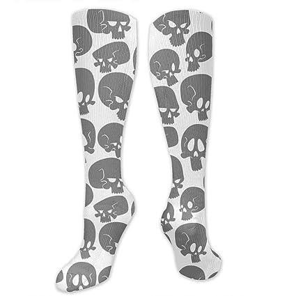 60e6b2aa784b Amazon.com: SARA NELL Compression Socks Halloween Skull Skeleton ...