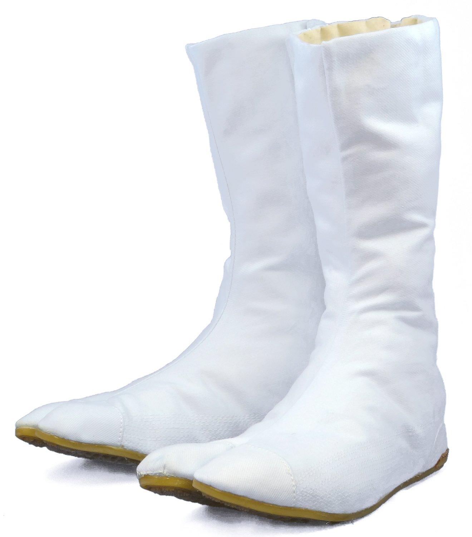 Halooween White Japanese Ninja Tabi Shoes/boots!! w/ Travel Bag ! 27cm (Us 9)