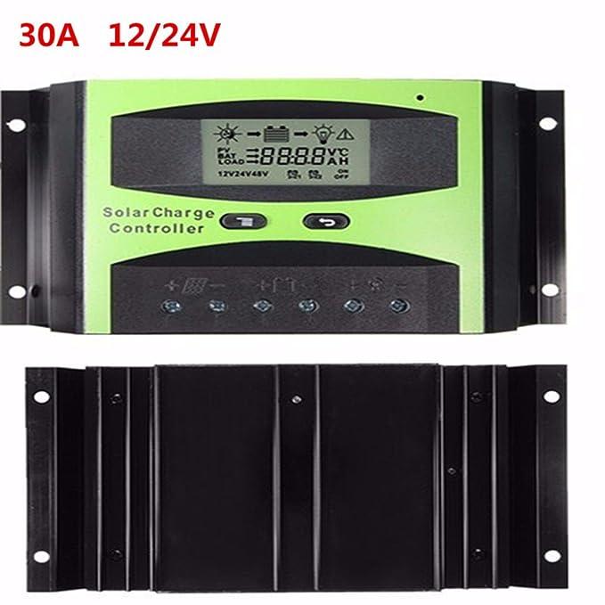 4 opinioni per MOHOO 30A 12/24v capo controllore intelligente pannello lcd batteria solare