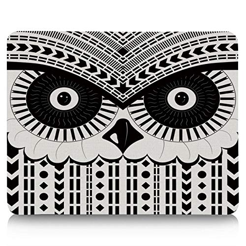 Gaming Mouse Pad, Tribe Geometric Cowl Non-Slip Rubber Base Mousepad Rectangle Mouse Mat for Laptop, Computers, Office & Home