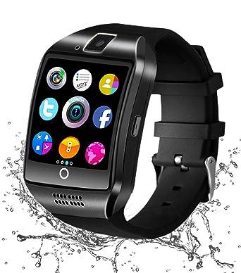 b39d35dcd Reloj Inteligente Bluetooth, Smartwatch Táctil Impermeable Smart Watch con  Camara, SIM/TF Ranura
