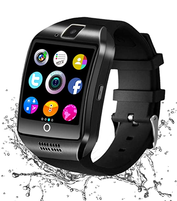 Reloj Inteligente Bluetooth, Smartwatch Táctil Impermeable Smart Watch con Camara, SIM/TF Ranura Whatsapp Sports Podómetro Reloj Bracelet para Android ...