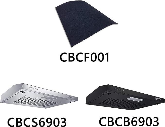 CIARRA CBCF001 Filtro de Carbón de Campana Extractora Decorativa de Cocina: Amazon.es: Grandes electrodomésticos