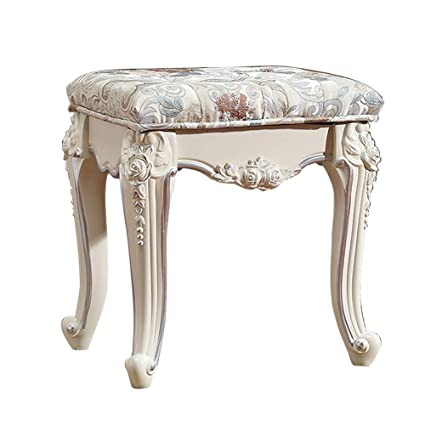 Vintage Dressing Table Stool Soft Padded Piano Room Chair Makeup Seat 3 Colors