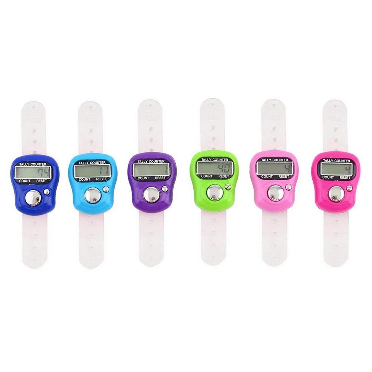LoveOlvidoD Plastic Compact Mini Stich Marker und Zeile Finger Zähler LCD Elektronische Digital Tally Counter Random für jeden Knitter