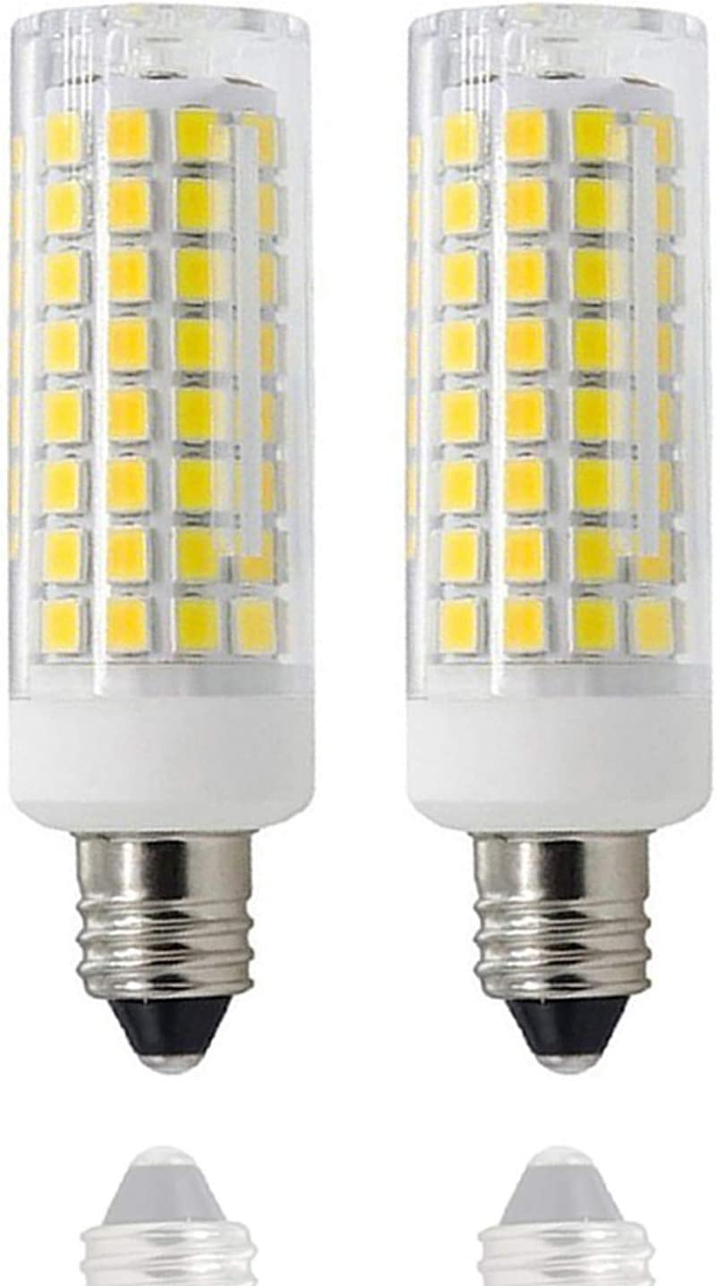 Dimmable,E11 Mini Candelabra Base Daylight 6000K 850 LM 102LEDs 2-Pack JD T3//T4 360 Degree Beam Angle for Indoor Decorative Lighting 8W 75W-100W Equivalent E11 Led Bulbs E11 LED All-New