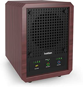 Ivation 5-in-1 Air Purifier & Ozone Generator For Up to 3,500 Sq/Ft, Ionizer & Deodorizer – Included 2 UV Lights, Photo-Catalytic and Carbon Filters, Eliminates Odors from Pets, Smoke, Food & More