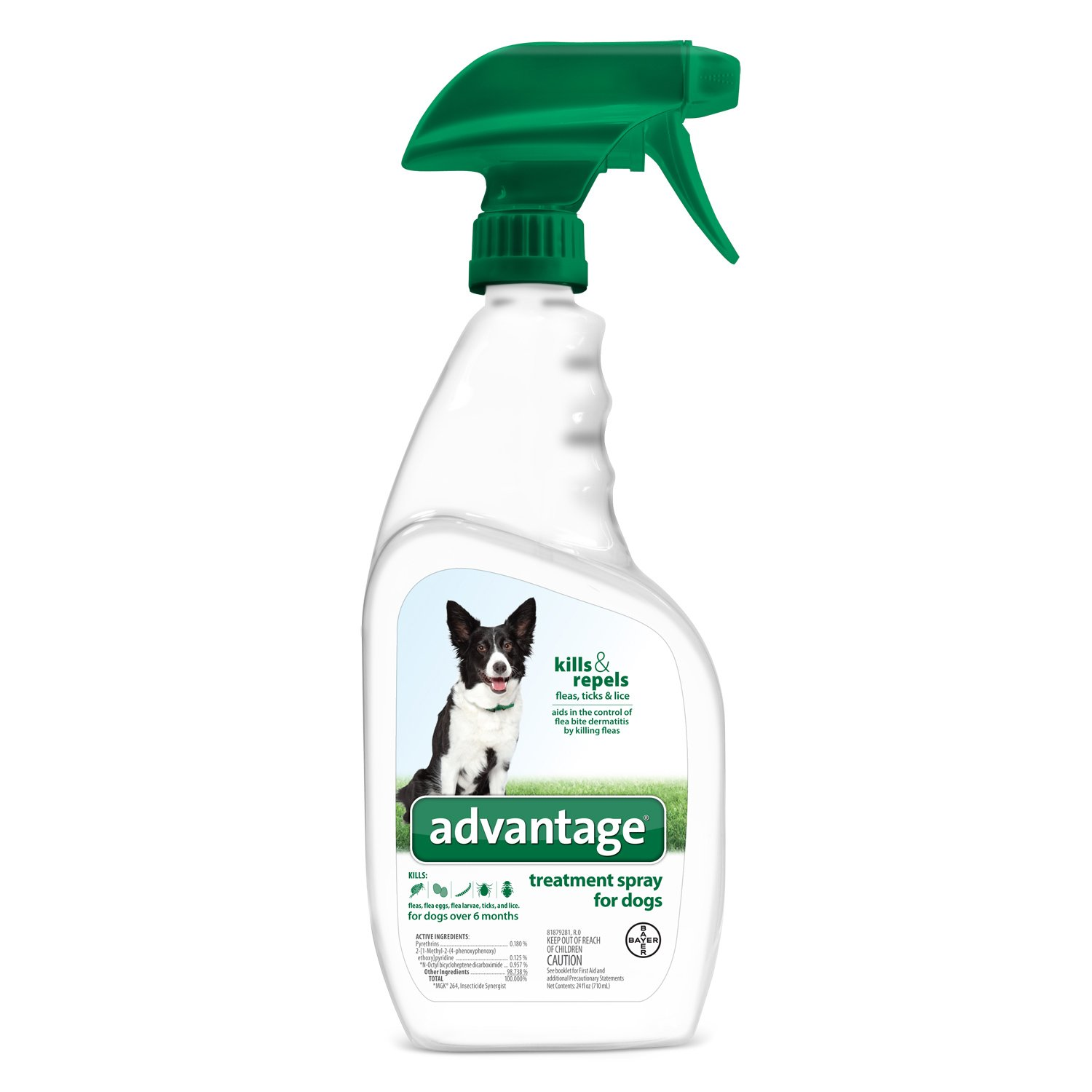 Flea and Tick Treatment Spray for Dogs, 24 oz, Advantage by Bayer Animal Health