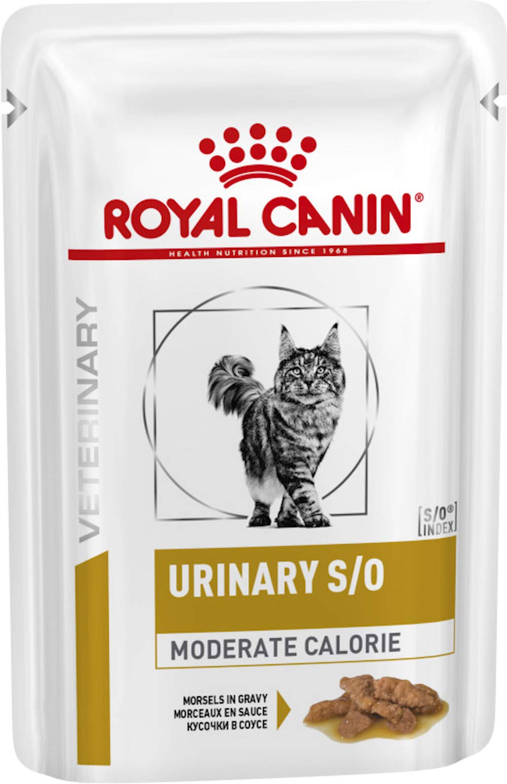 Royal Canin Veterinary Diet Feline Urinary S/O Moderate Calorie Gravy Pouches 48 x 85g