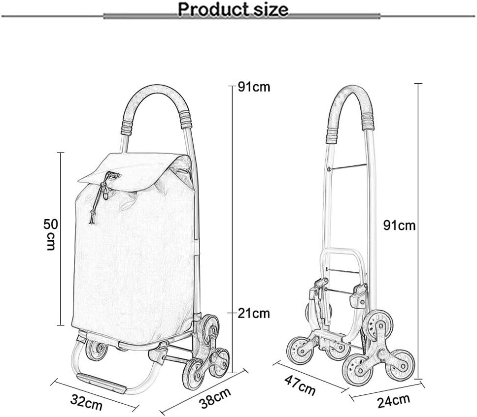 Akang Grocery Shopping Cart Foldable for Stairs 3 Colors Color : Green Trolley Dolly Easily Up The Stairs Shopping Cart Multifunction Grocery Foldable Picnic Beach