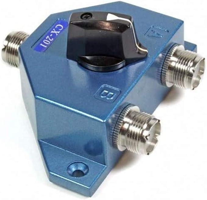Conmutador antena 2 salidas CX-201U (conector tipo UHF)