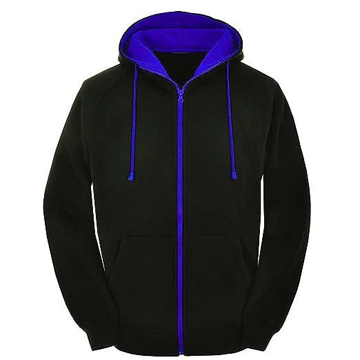 2702e5b5d Amazon.com: Mens Contrast varsity retro zip up hoodie Unisex hooded  sweatshirt zipper jacket: Clothing