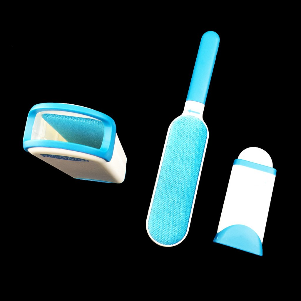 Homie Pet Fur & Lint Remover Self-Cleaning Base Travel companion Cleaner Brush