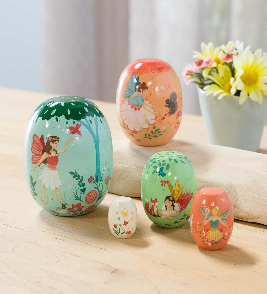 Wooden Fairy Nesting Set